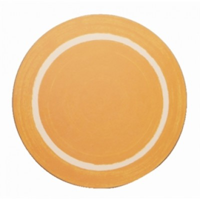 Round Casual Dining Yellow Mat
