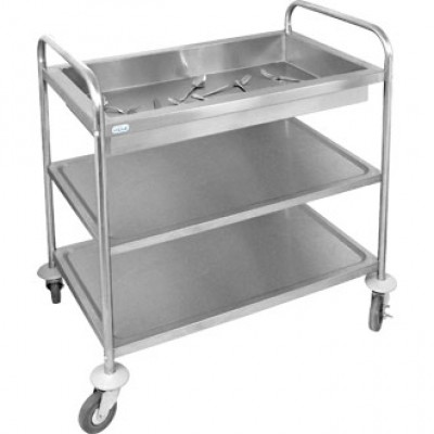 Vogue Deep Tray Clearing Trolley