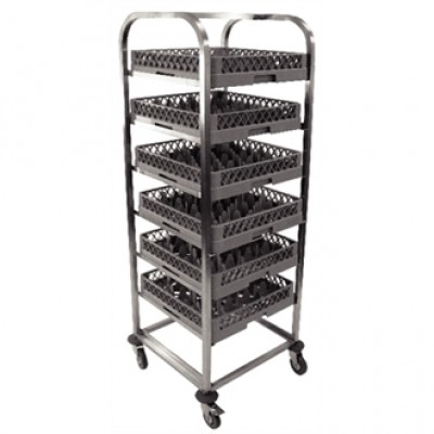 Craven St/Steel Dishwasher Basket Trolley