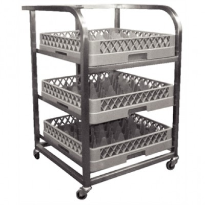 Craven St/Steel Glass Tray Trolley
