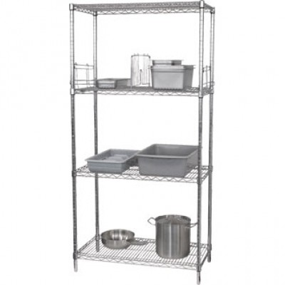 4 Tier Wire Shelving Kit. 610mm (24'') depth.