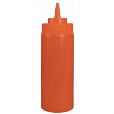 Red Squeeze Sauce Bottle