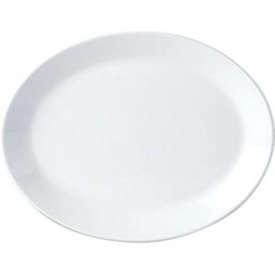 "Steelite Simplicity White Oval Coupe Dish 10"""