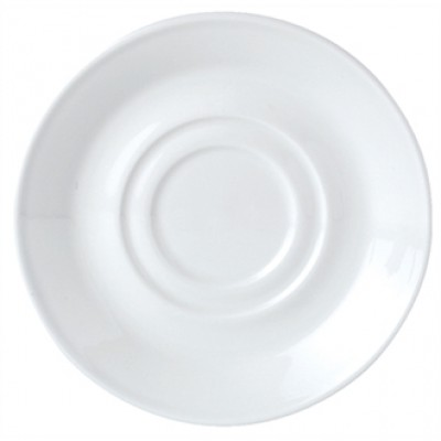 Steelite Simplicity White Saucer for 8oz Low Cup 5 3/4""