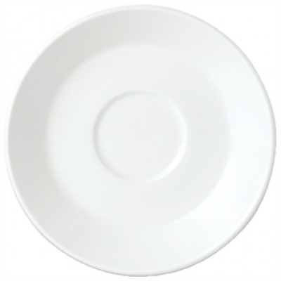 "Steelite Simplicity White Saucer for Espresso Cup 4 5/8"""