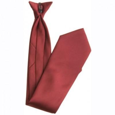 Burgundy Clip-On Tie
