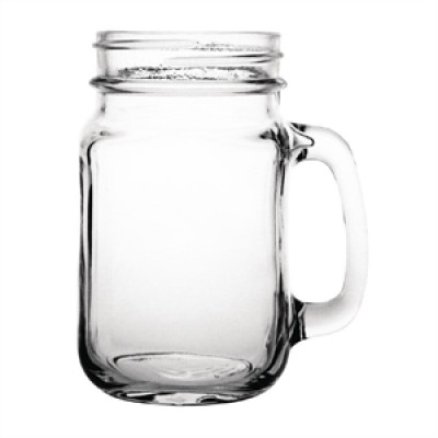 Olympia Handled Jam Jar Glass