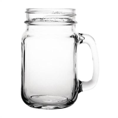 Olympia Handled Jam Jar Glass