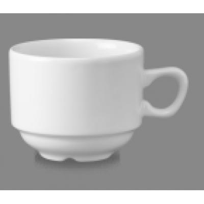 Churchill Plain Whiteware Stacking Nova Tea Cup 7 1/2oz