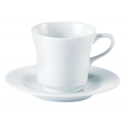 Porcelite Tall Tea Cup Saucer 5.75""