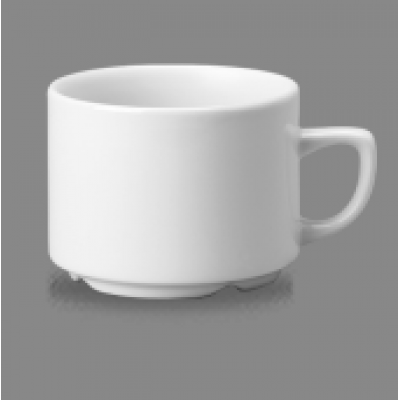 Churchill Plain Whiteware Stacking Maple Tea Cup 7oz