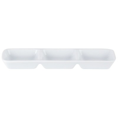 Porcelite Three Division Dip Tray 7.75''x2.5''