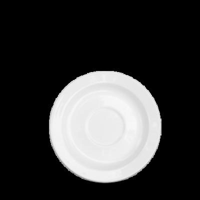 "Churchill Plain Whiteware Maple Saucer 5 7/8"""