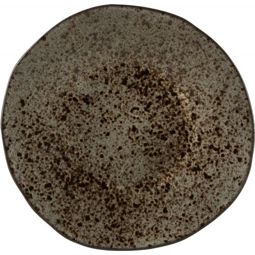Rustico Ironstone Black Dessert Plate 21cm C53335 Red