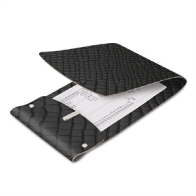 DAG Bonded Leather Bill Presenter Black Crocodile Skin