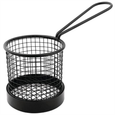 Olympia Mini Fryer Basket Black with Handle