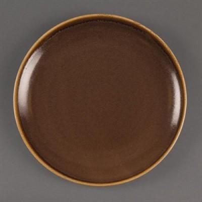 Olympia Kiln Round Plate Bark - 280mm