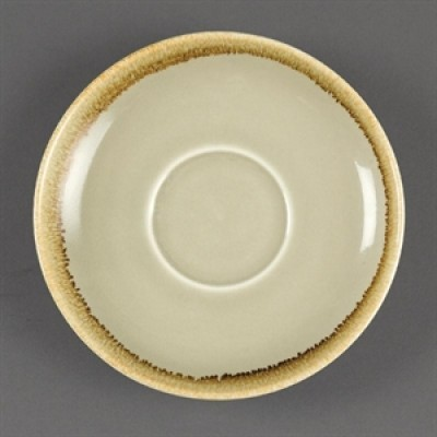 Olympia Kiln Large Cappuccino Saucer Moss