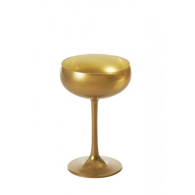 Stolzle Olympic Glossy Gold Champagne Saucer
