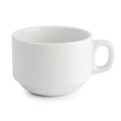 Royal Porcelain Classic White Stacking Tea Cup 200ml
