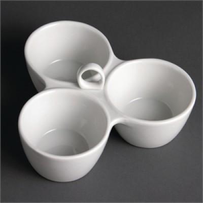 Y098 Olympia 3 Pot Relish Dish 180mm