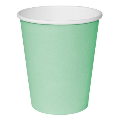 Fiesta Takeaway Coffee Cups Single Wall Turquoise 8oz (50)