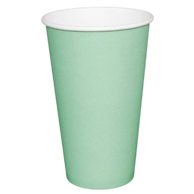 Fiesta Takeaway Coffee Cups Single Wall Turquoise 16oz (50)