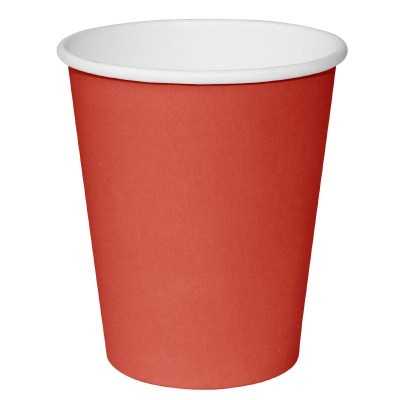 Fiesta Takeaway Coffee Cups Single Wall Red 8oz (50)