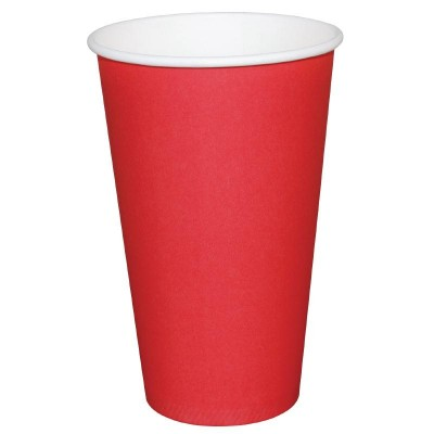 Fiesta Takeaway Coffee Cups Single Wall Red 12oz (50)