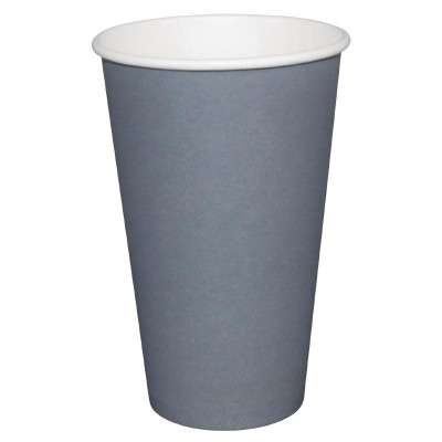 Fiesta Takeaway Coffee Cups Single Wall Charcoal 16oz (50)