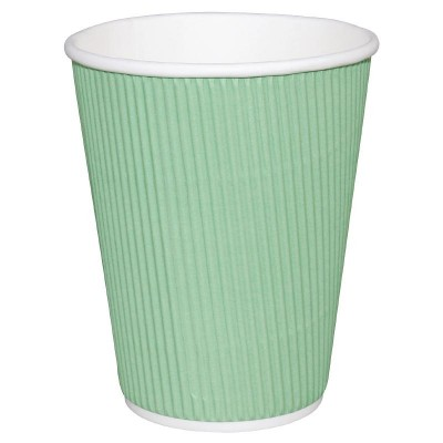 Fiesta Takeaway Coffee Cups Ripple Wall Turquoise 16oz (25)