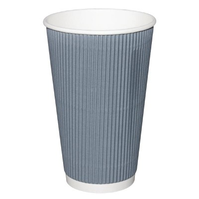 Fiesta Takeaway Coffee Cups Ripple Wall Charcoal 16oz (25)