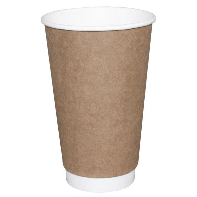 Fiesta Takeaway Coffee Cups Double Wall Kraft 12oz