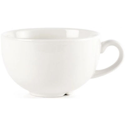 Churchill WHCB281 Plain Whiteware Cappuccino Cup 12oz