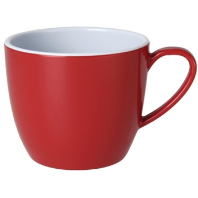 Kristallon Gala Colour Rim Melamine Mug Red 285ml