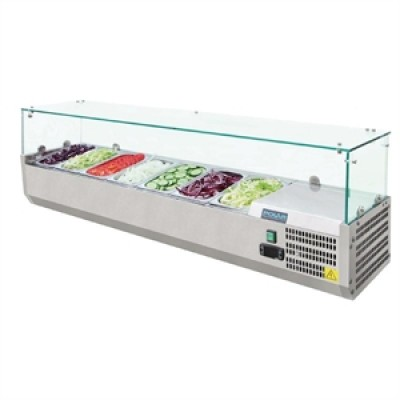 Polar G609 Counter Top Fridge Prep Unit - Stainless Steel