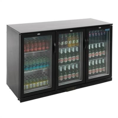 Polar GL004 Hinged Door Bar Display Bottle Cooler  - Black