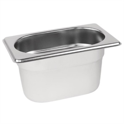 Stainless Steel Gastronorm Pan - 1/9 One Ninth Size