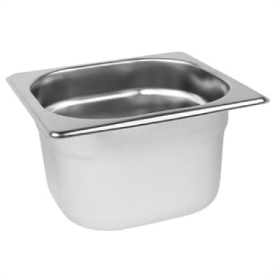 Stainless Steel Gastronorm Pan - 1/6 One Sixth Size