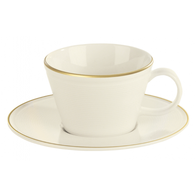 Line Gold Band Cappuccino Saucer - 16cm