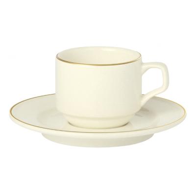 """Academy Event Gold Band Espresso Saucer- 12cm / 4.75"""""""