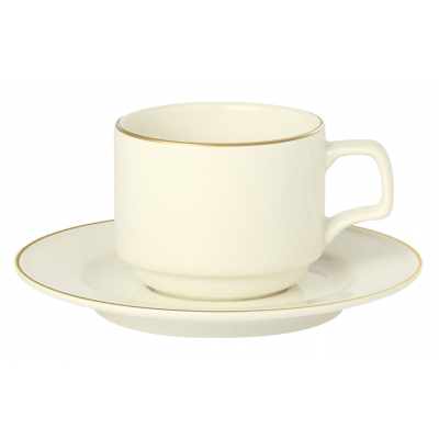 Academy Event Gold Band Stacking Saucer - 15cm/6''