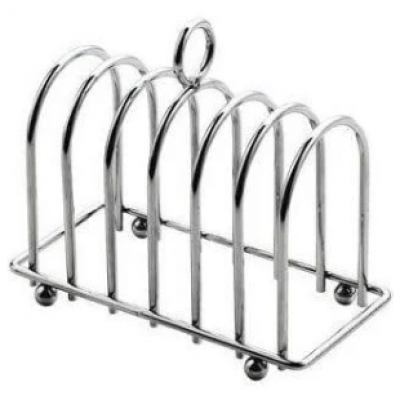 6 Slice Chrome Toast Rack