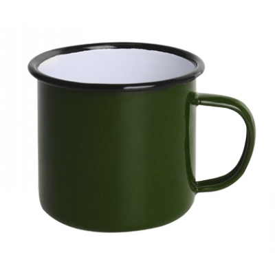 Olympia Enamel Mugs Green 350ml