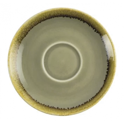 Olympia Kiln Cappuccino Saucer Moss