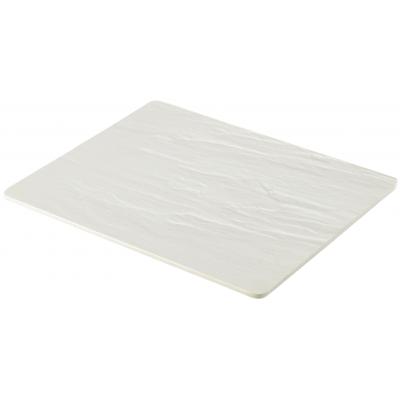 White Slate Melamine Platter GN 1/2 32.5X26.5cm