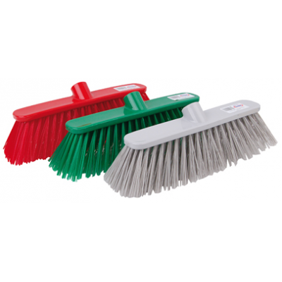 Deluxe Stiff Bristles Broom Head - Blue