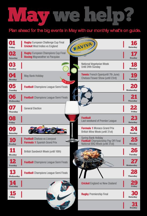 Calendar May Events : May events calendar
